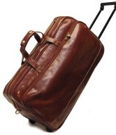 Milano Men's Italian Leather Trolley Bag