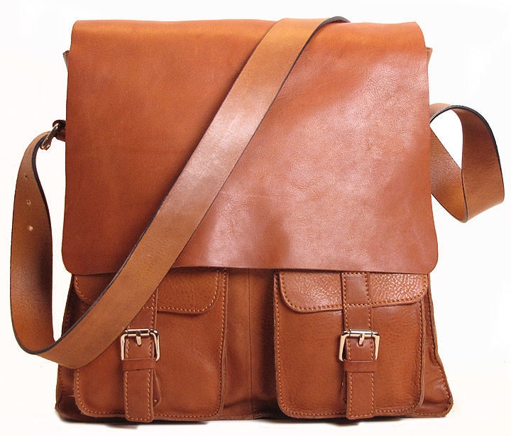 Forum Leather Messenger Bag - Fenzo Italian Bags