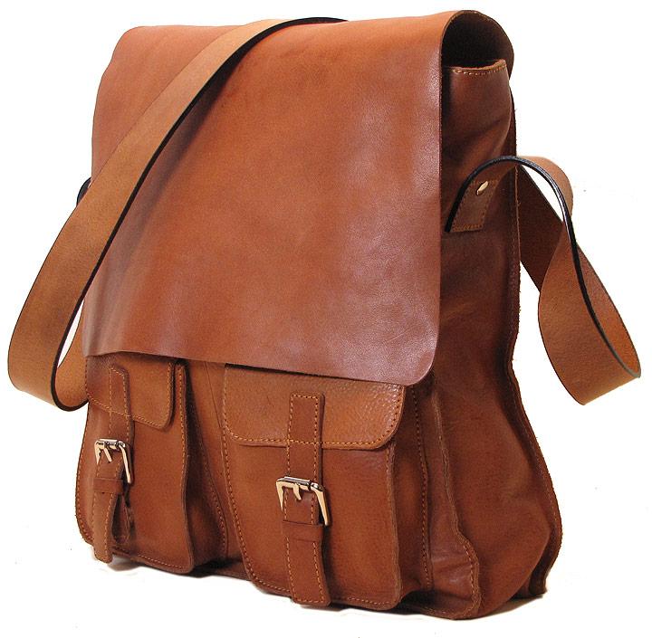Forum Leather Messenger Bag - Fenzo Italian Bags