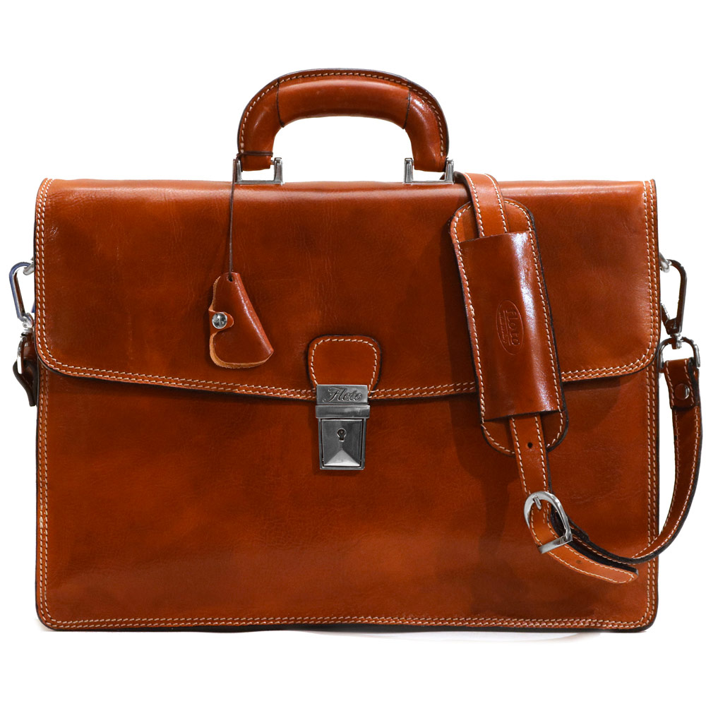 Milano Italian Leather Briefcase Bag