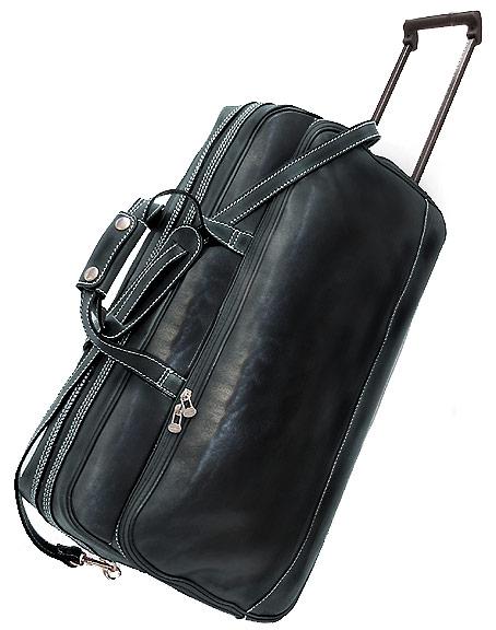 Milano men s italian leather trolley bag