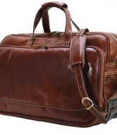 Italian Leather Trolley Bag