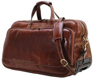 Italian Leather Trolley Bag