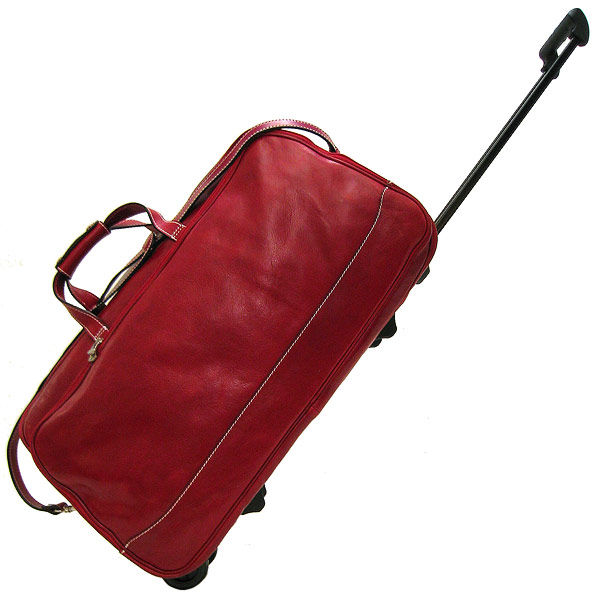 Milano Italian Leather Trolley Bag - Fenzo Italian Bags