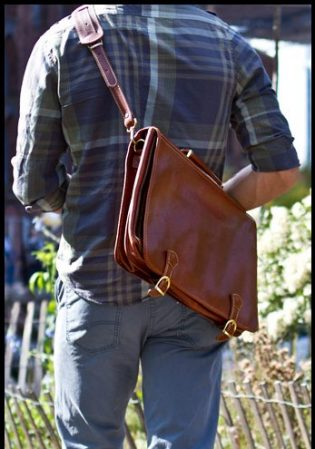Men's Leather Messenger Bags