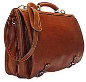 Men's Leather Messenger Handbag