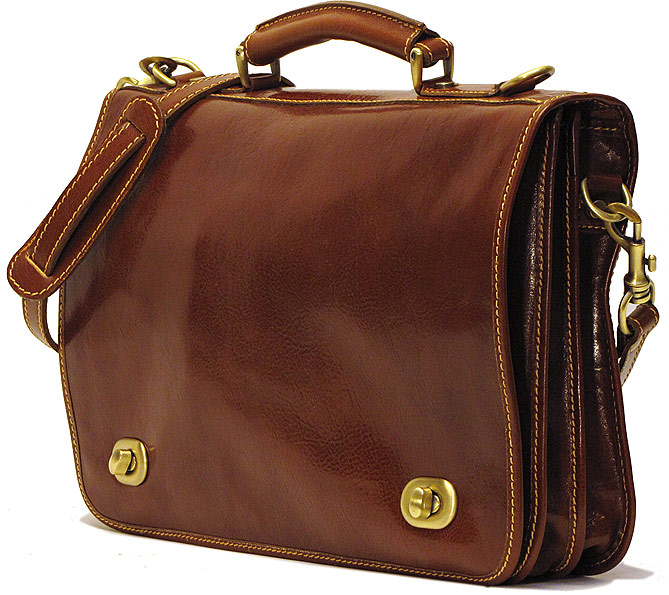 Roma Leather Messenger Bag