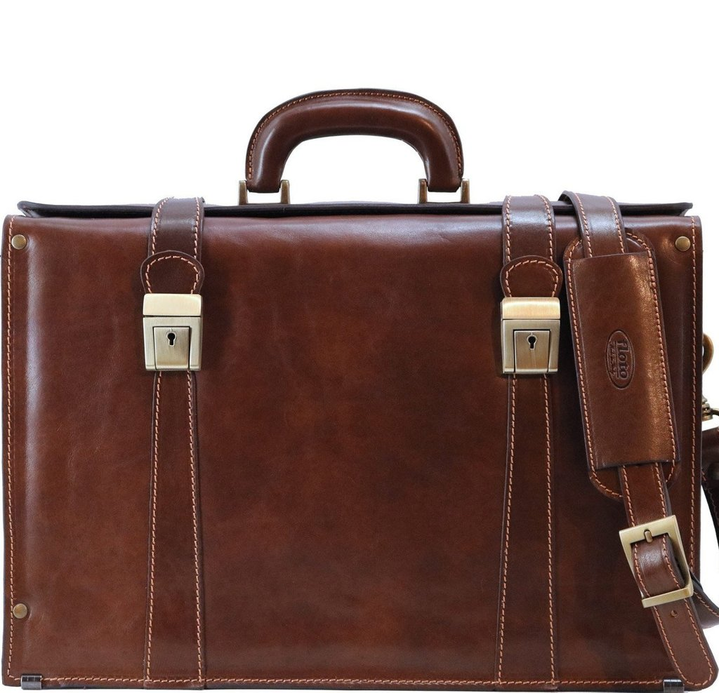 5d70e30bb Trastevere Italian Leather Briefcase Bag - Fenzo Italian Bags