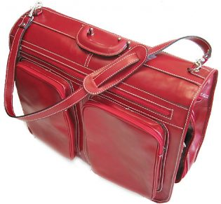 Venezia Men's Italian Leather Garment Bag