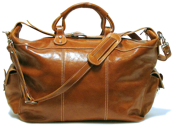 Venezia Italian Leather Travel Tote Bag - Fenzo Italian Bags