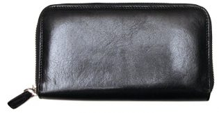 Venezia Zip Italian Leather Wallet