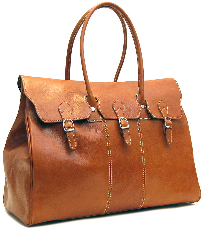 Lugano Italian Leather Overnight Bag