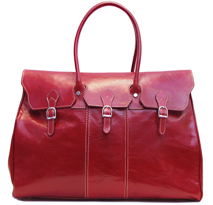 Lugano Italian Leather Overnight Bag Fenzo Italian Bags