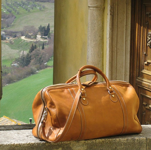 Parma Italian Leather Duffel Bag - Fenzo Italian Bags