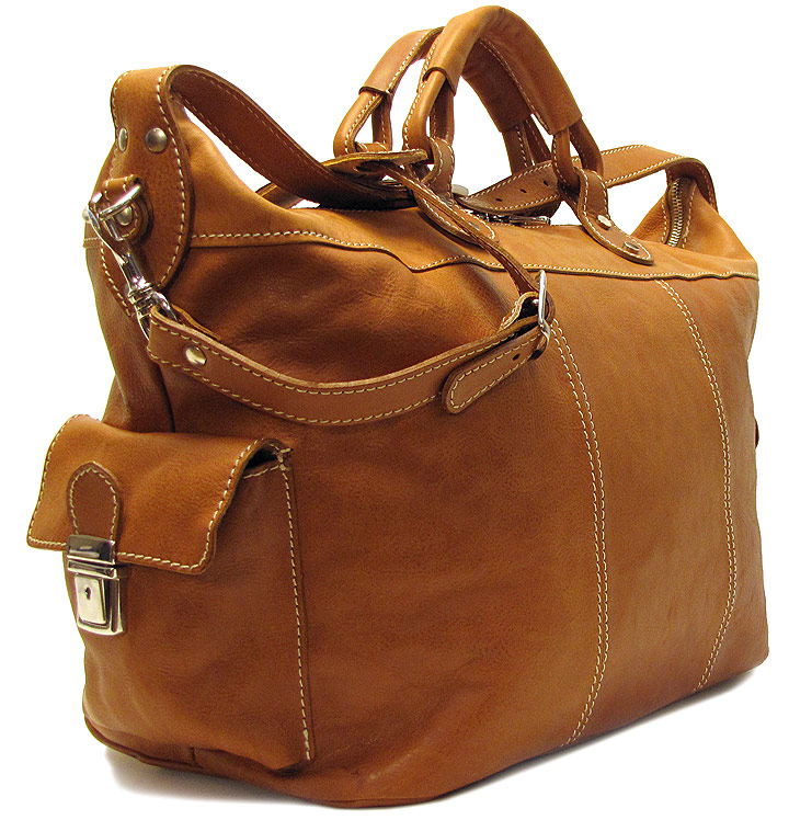 Parma Tote Leather Weekend Bag Fenzo Italian Bags
