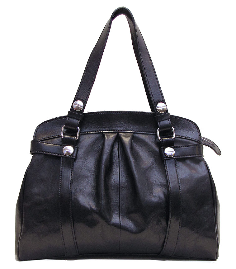 Milano Leather Shoulder Bag Fenzo Italian Bags