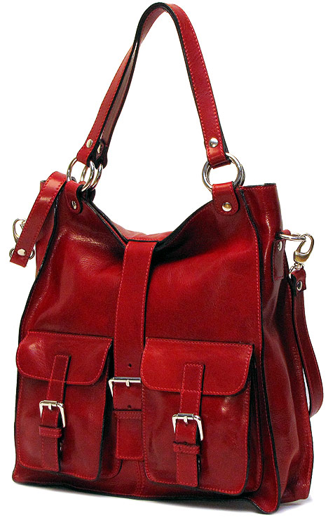 Red Satchel Handbag | Luggage And Suitcases