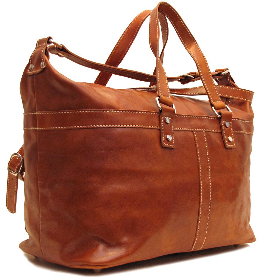 Milano Italian Leather Travel Bag - Fenzo Italian Bags