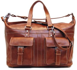 Italian Leather Travel Bag