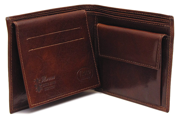 Milano Flip Up Leather Bifold Wallet Fenzo Italian Bags