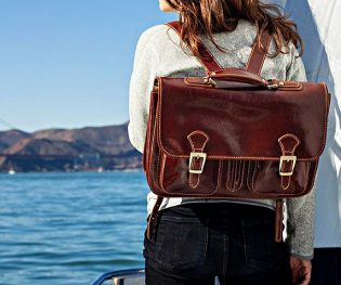 Italian leather backpacks
