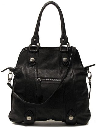 Leather Crossbody Satchel