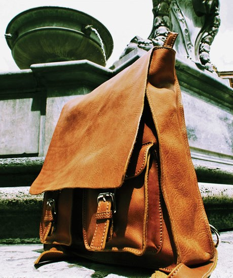 Leather Messenger Handbag