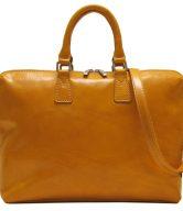 Slim Leather Brief Bag