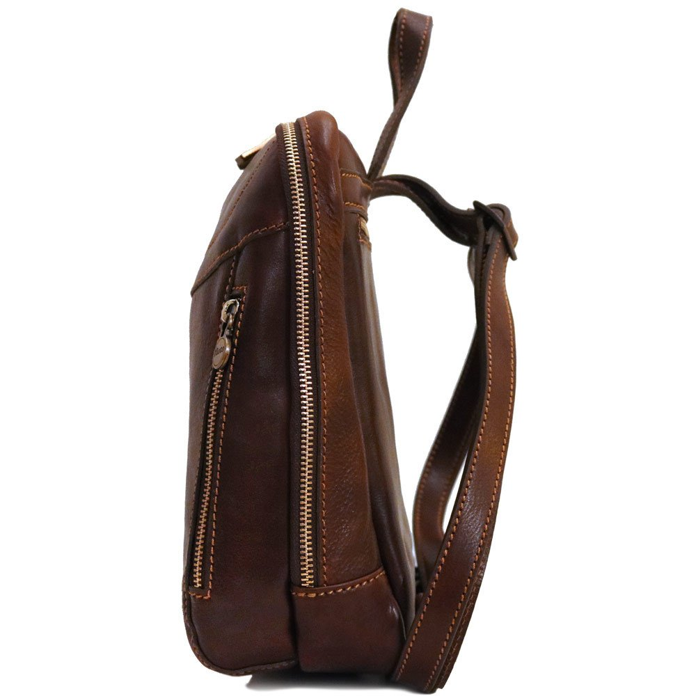 Medium Leather Backpack