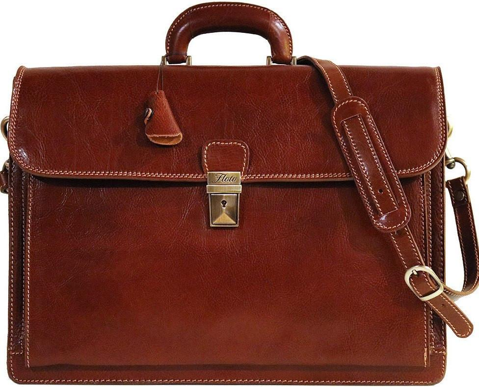 Firenze Leather Briefcase - Fenzo Italian Bags 9709f5566ceaa