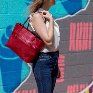 Leather Tote Shoulder Bag