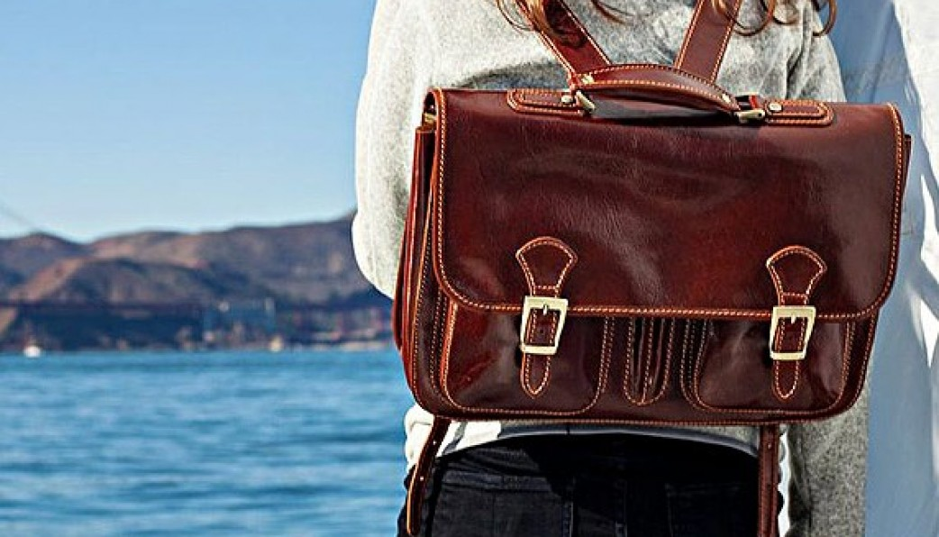 Flexible Versatile Italian Leather Backpacks