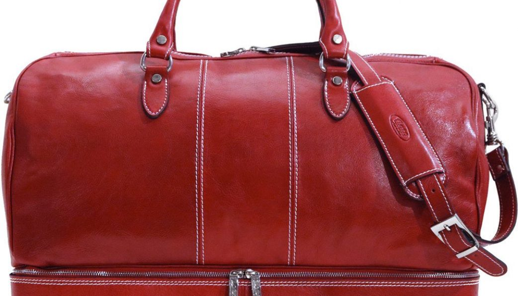 Leather Overnight Bag Womens Fenzo Italian Bags