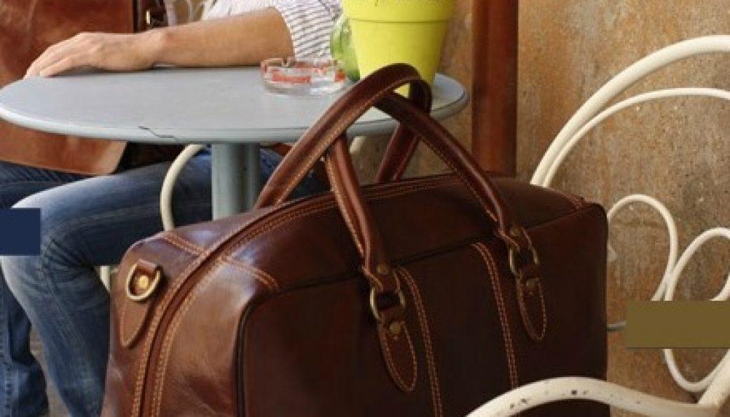 BLACK The Italian Carry-on Weekend Travel Duffel Bag